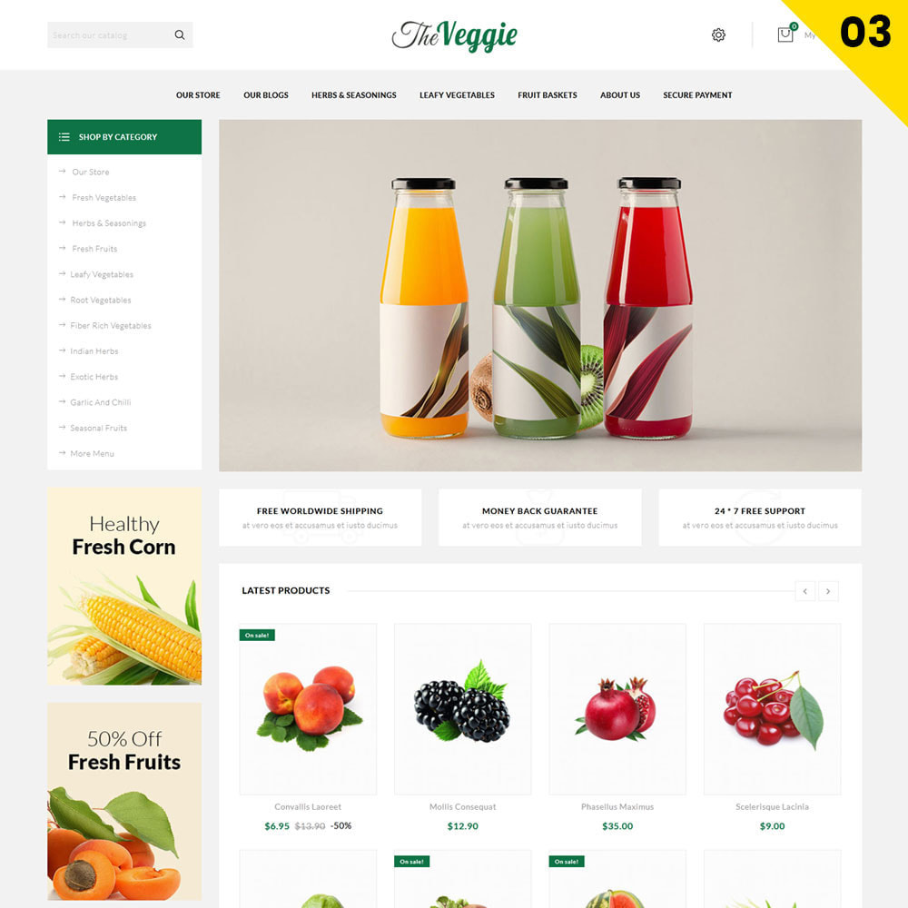 theme - Alimentation & Restauration - Veggie - Le magasin bio - 5