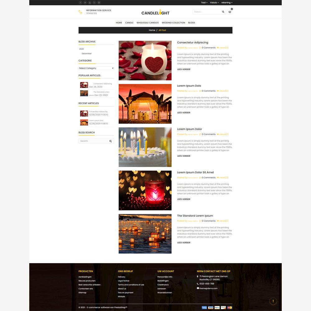 theme - Cadeaus, Bloemen & Gelegenheden - Candle - Responsive Store - 5