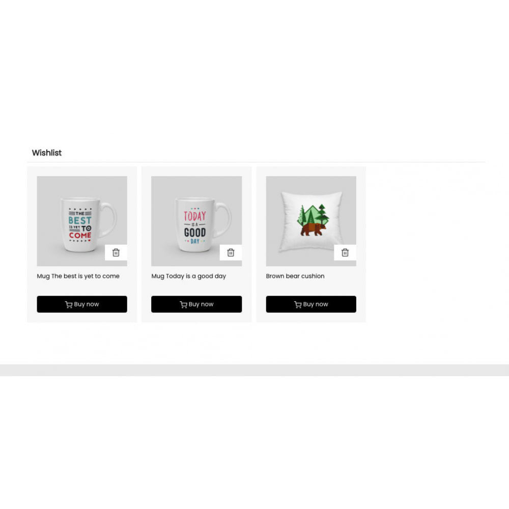 module - Wishlist & Gift Card - Simple wishlist - 2
