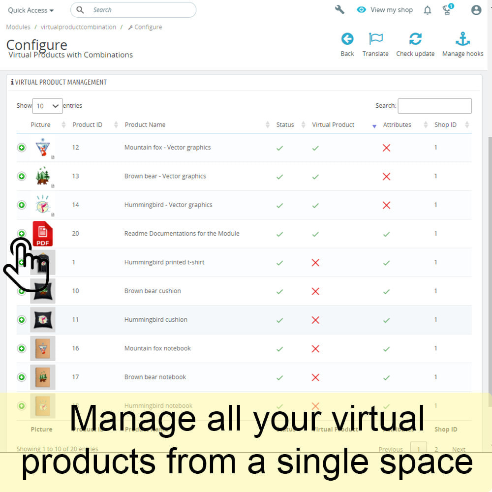 module - Digitale Produkt - Virtual Products with Combinations - 3
