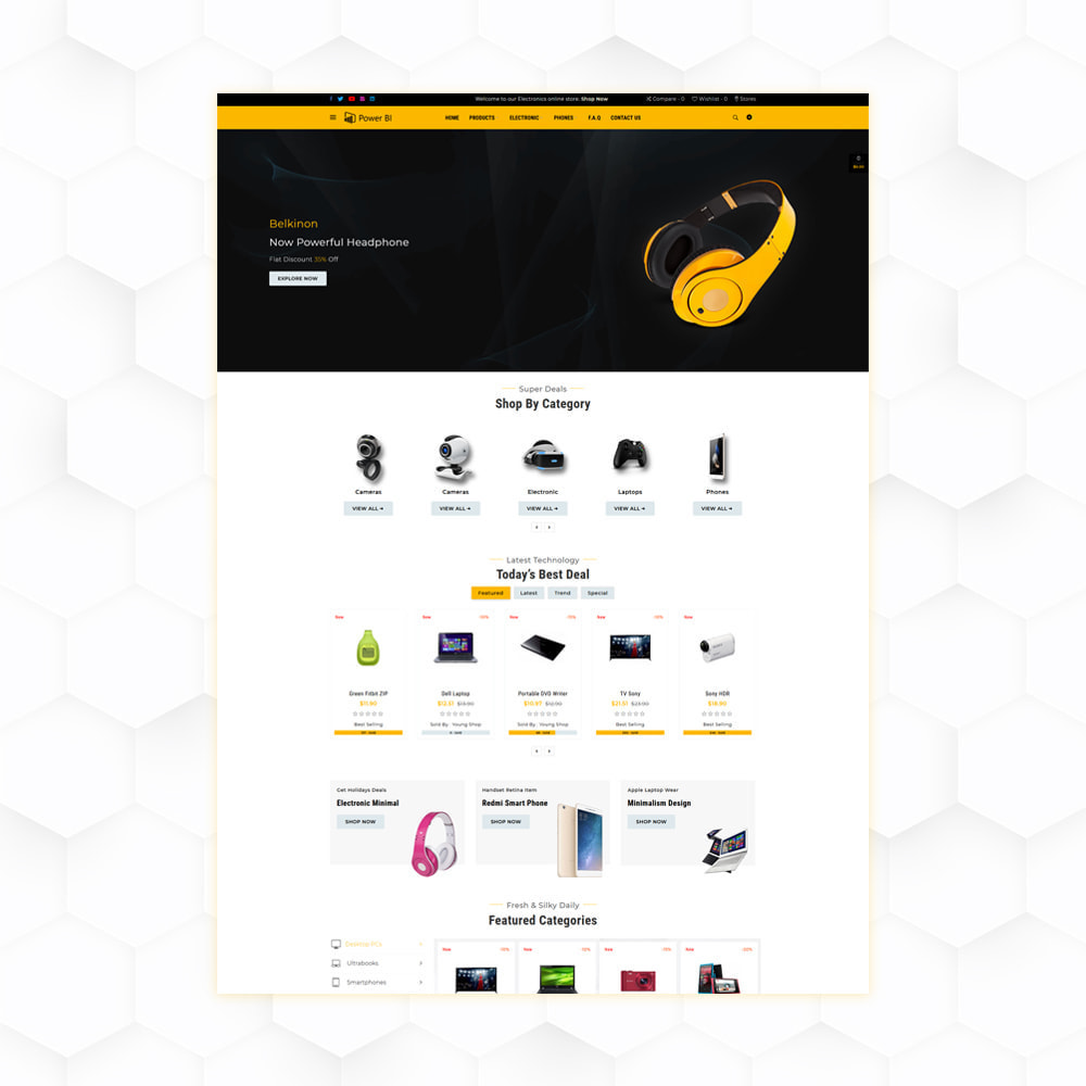 theme - Eletrônicos & High Tech - PowerBI Electronic Store - 2