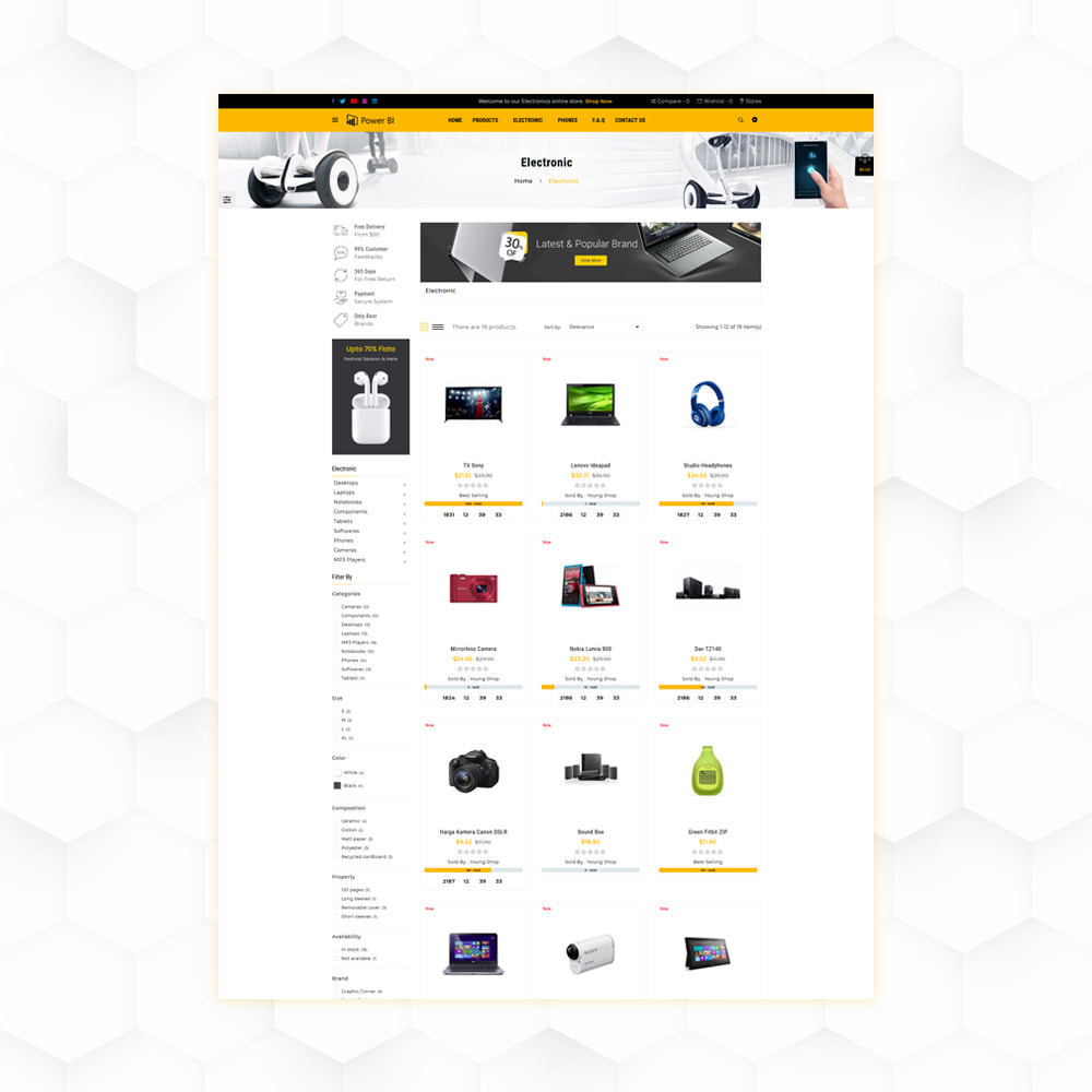 theme - Eletrônicos & High Tech - PowerBI Electronic Store - 3