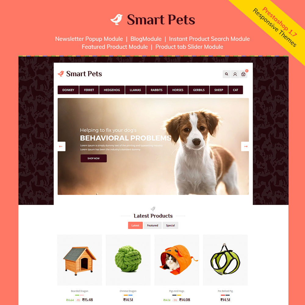 theme - Zwierzęta - Smart Animal - Pet Food Store - 1