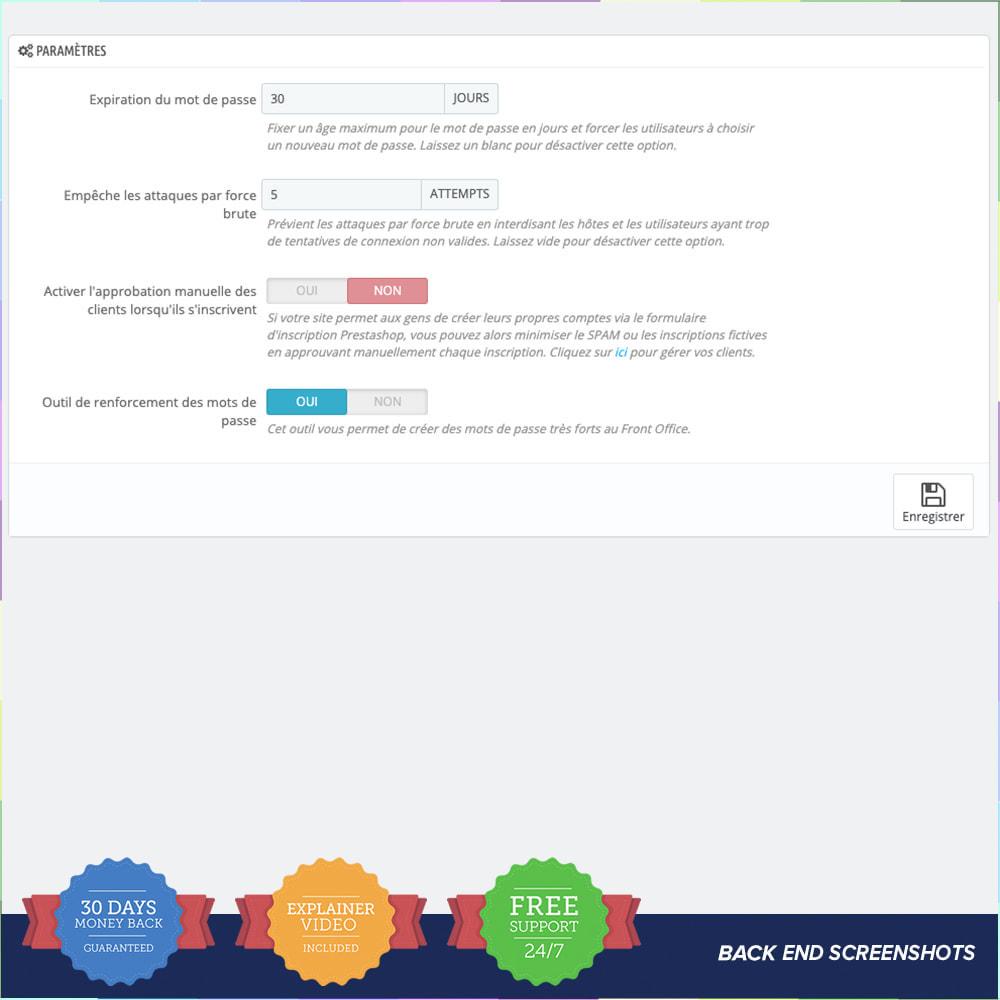 module - Sécurité & Accès - Protéger les clients PRO - 1