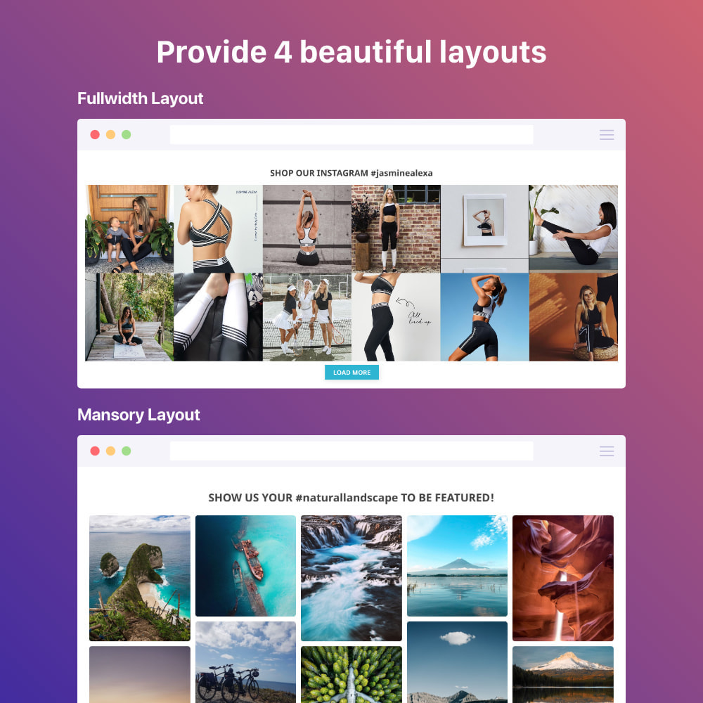 module - Sliders & Galeries - Shoppable Instagram Feed: carousel, slider, gallery - 2
