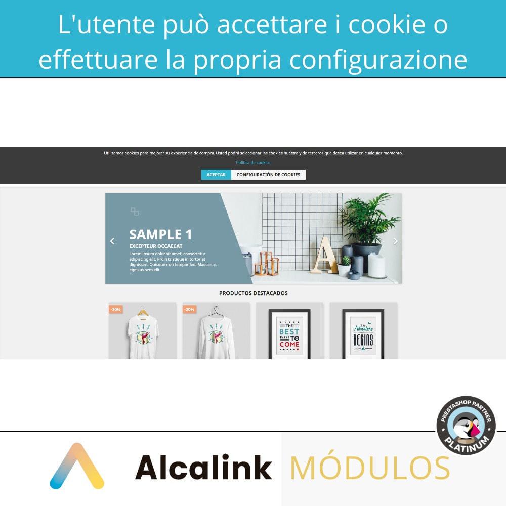 module - Legale (Legge Europea) - Legge sulla configurazione dei cookie - 2021 - 3