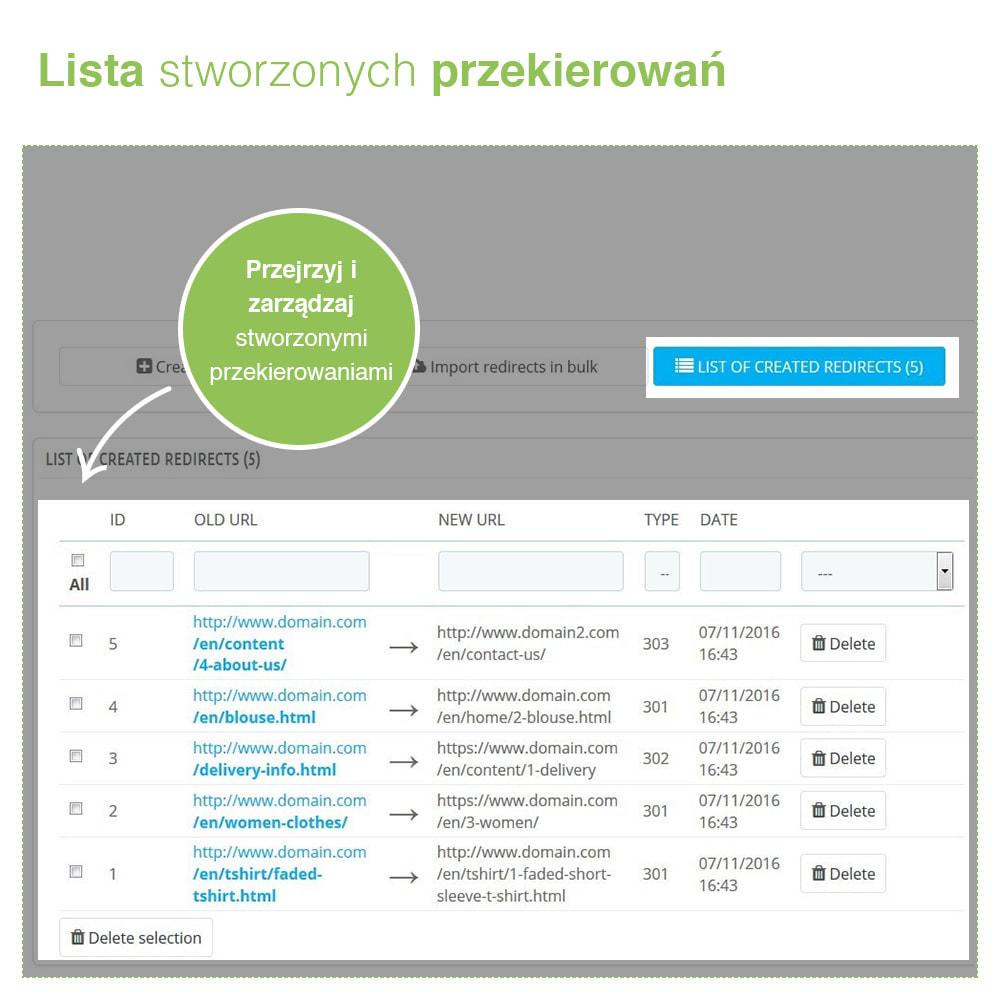 module - URL & Przekierowania - Przekierowanie 301, 302, 303 adresów URL i 404 – SEO - 4