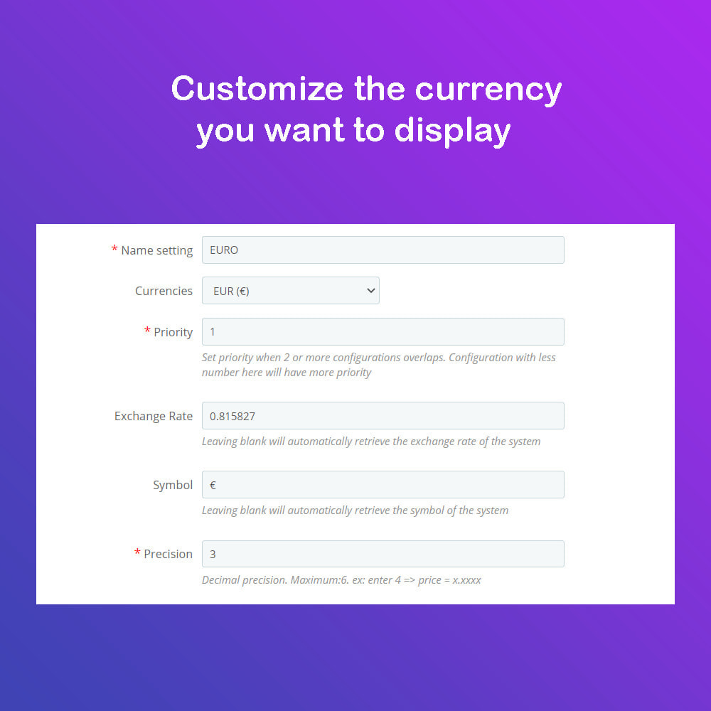 module - International & Localization - Auto Change Language, Currency - Format currency - 3