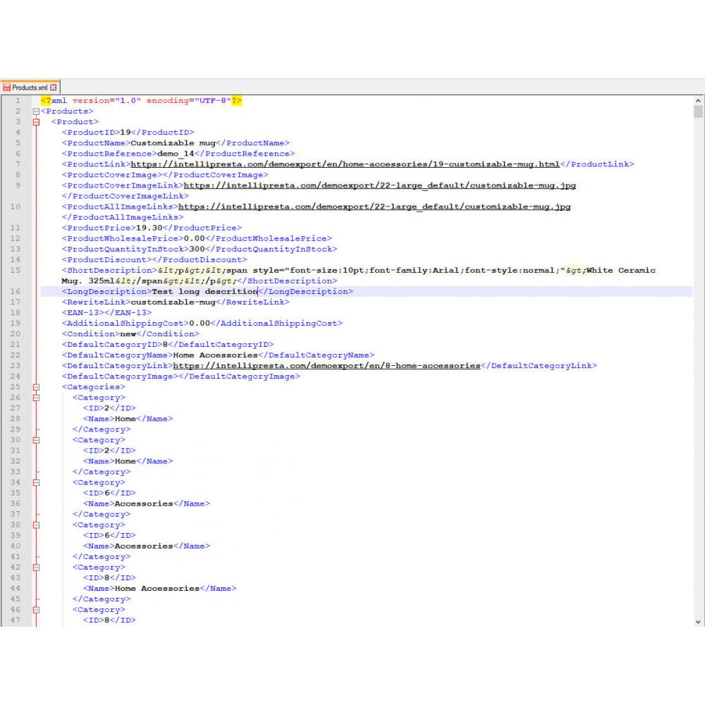 module - Daten Im-&Export - Produkte Export (Excel, CSV, XML, Cron, Email, FTP) - 9