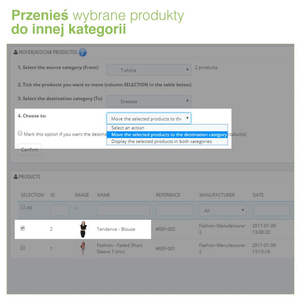 module - Administracja - Copy & Move Products: Zmiana Kategorii Produktów - 3