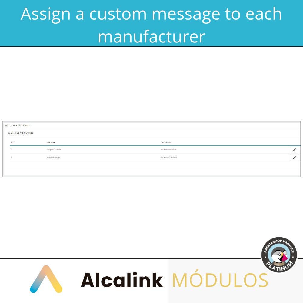 module - Pokaz produktów - Custom message by manufacturer - 2