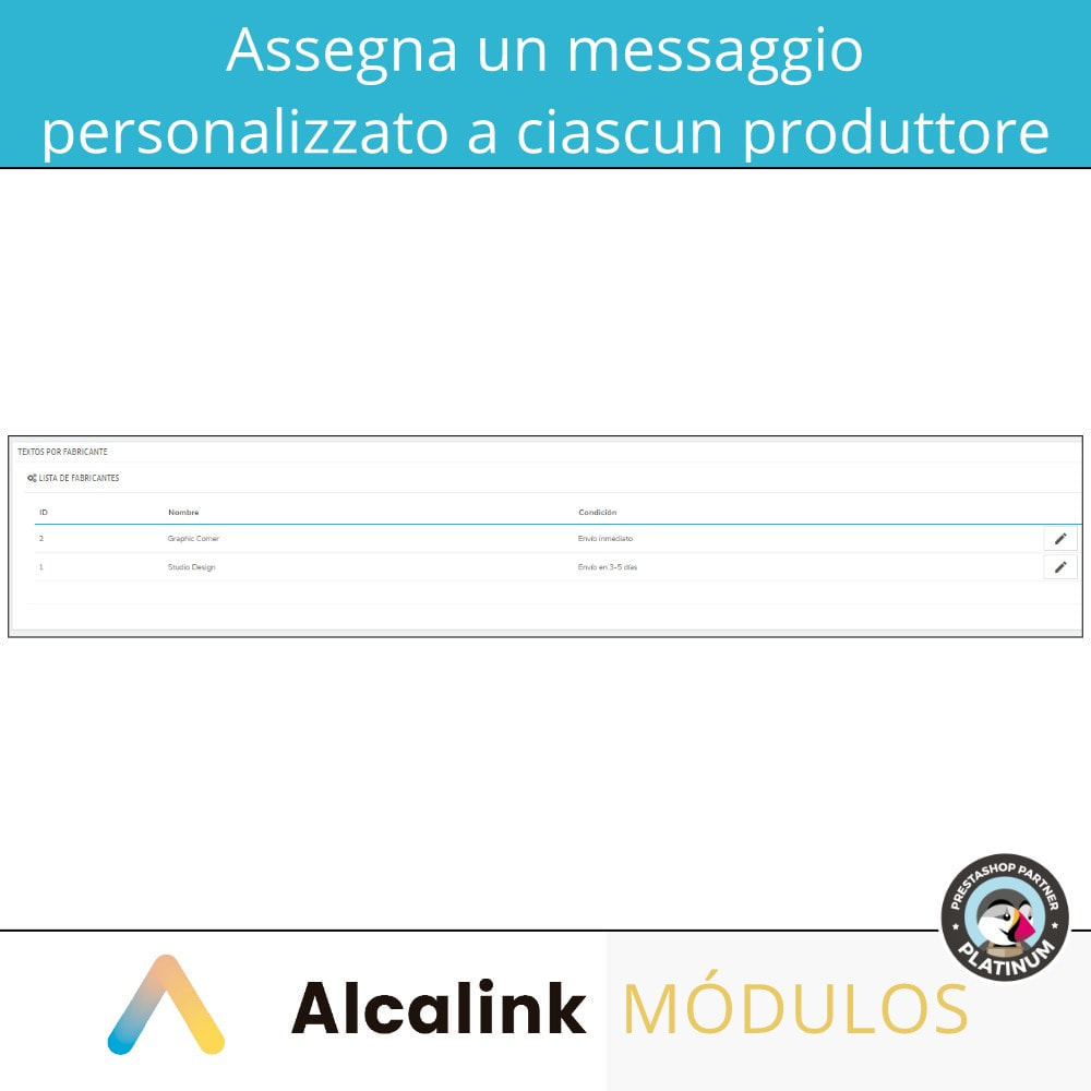 module - Visualizzazione Prodotti - Messaggio personalizzato per ogni produttore - 2