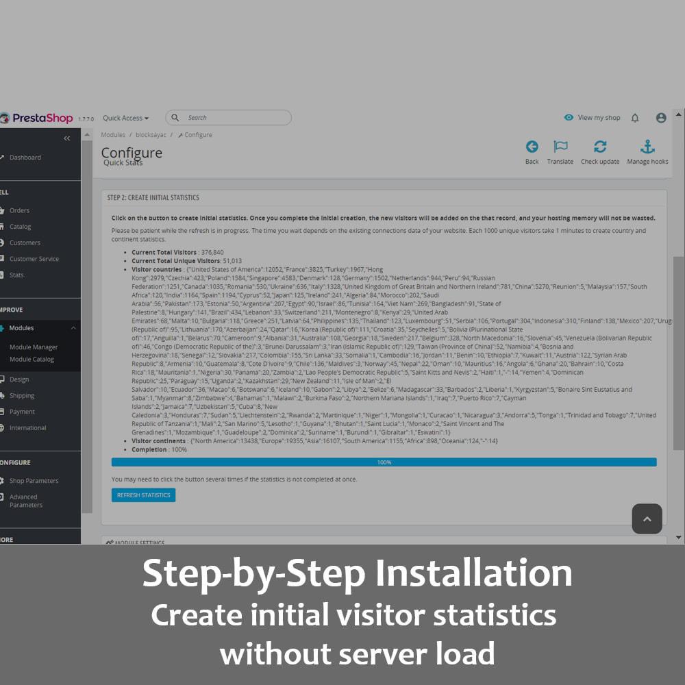 module - Personalización de la página - Visitor Statistics on Homepage (Front Office) - 7