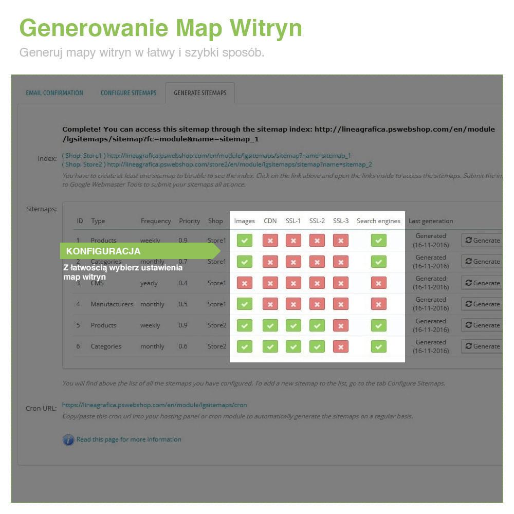 module - SEO (Pozycjonowanie naturalne) - Xml Sitemap PRO: Generator Mapy Witryn – SEO - 7