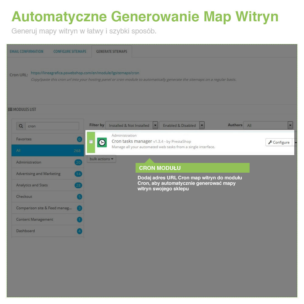 module - SEO (Pozycjonowanie naturalne) - Xml Sitemap PRO: Generator Mapy Witryn – SEO - 9