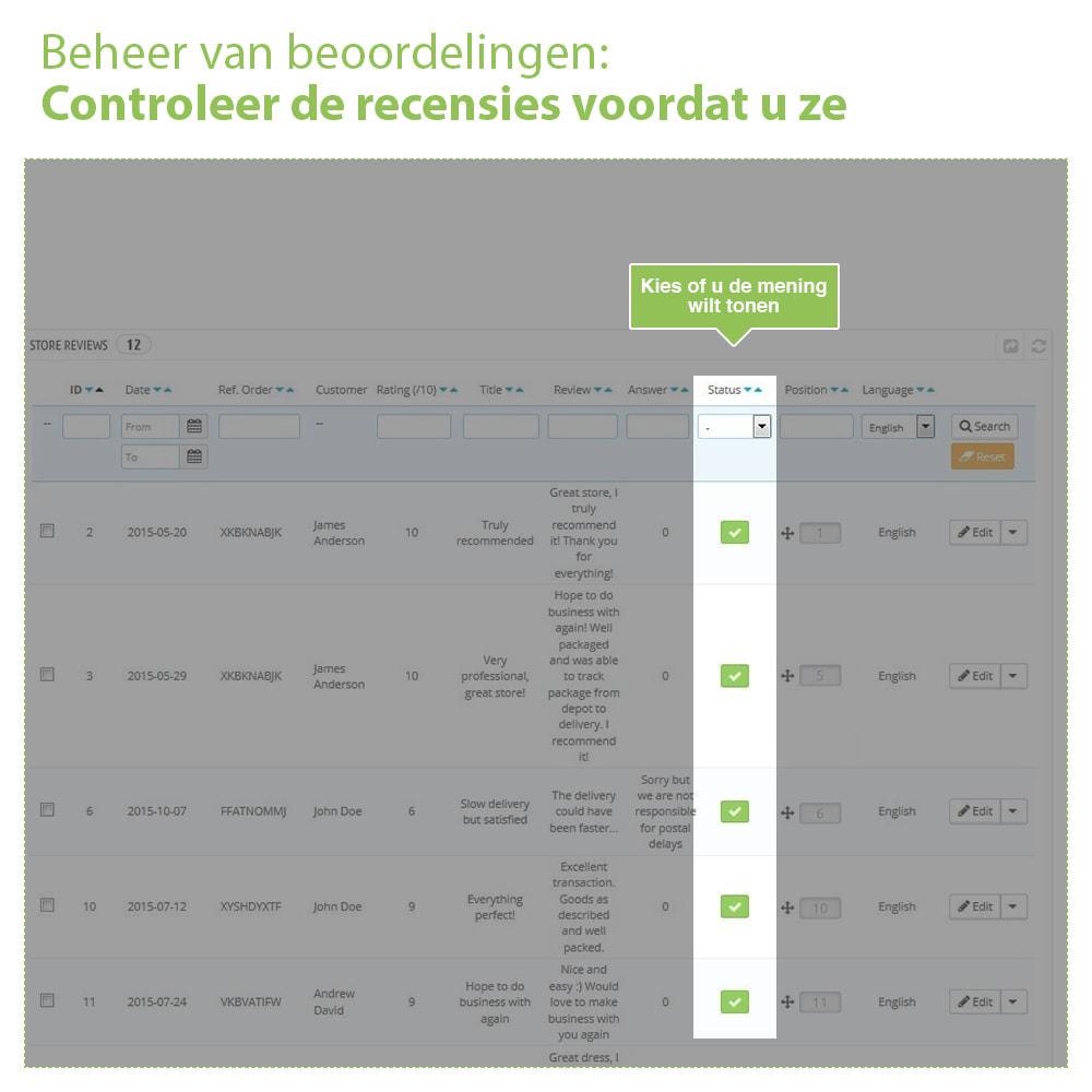 module - Klantbeoordelingen - Shop Recensies + Productbeoordelingen + Rich Snippets - 34