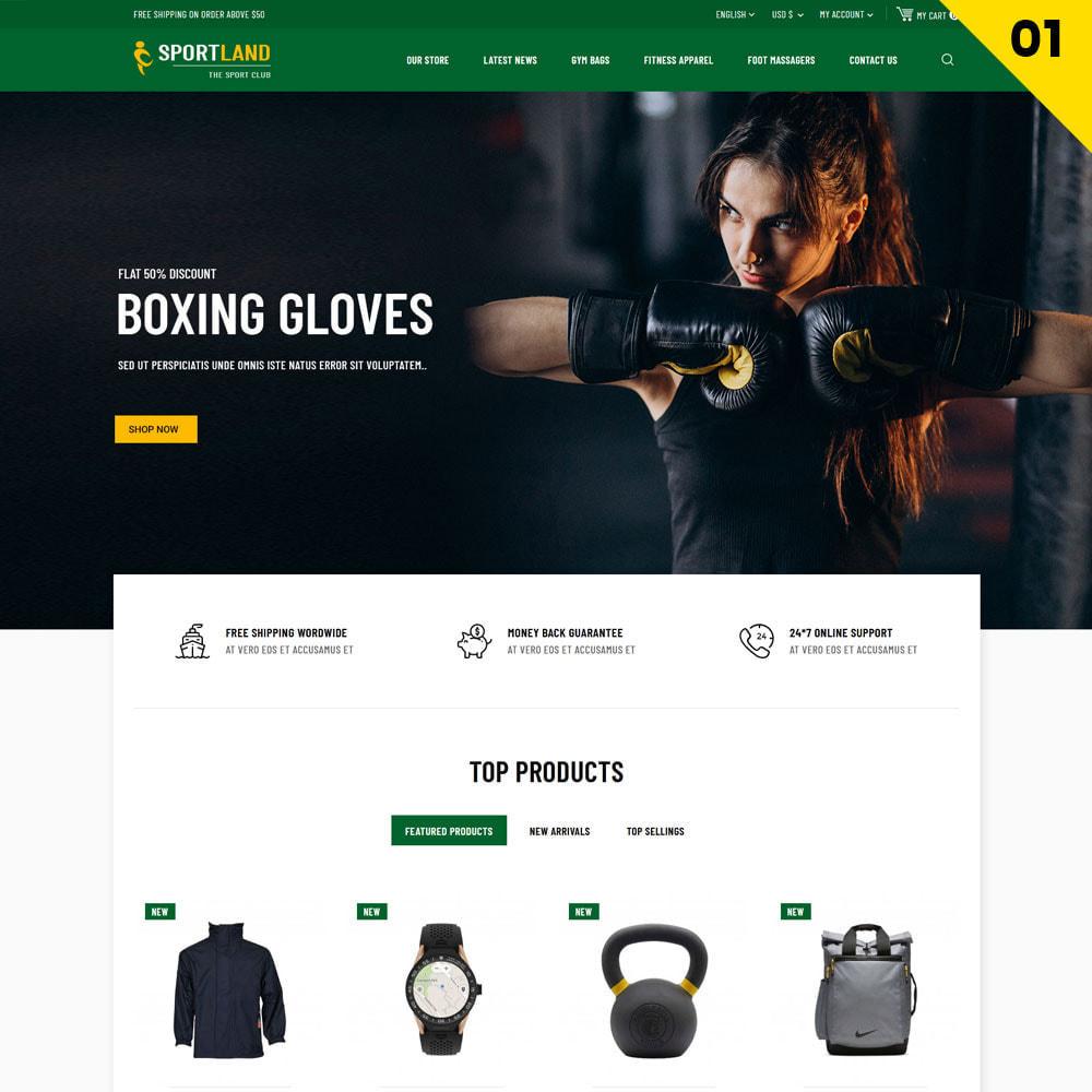 theme - Sport, Loisirs & Voyage - Sport Land - Le magasin de sport Mega - 3