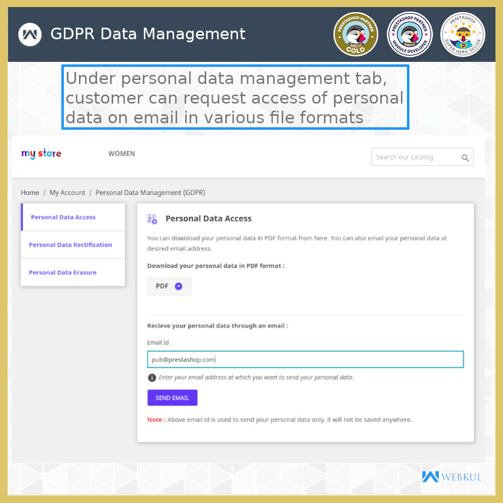 module - Juridisch - GDPR Compliance | Data Protection & EU Cookie Law - 9