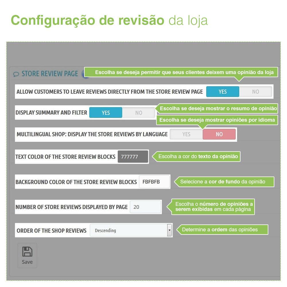 module - Opiniões de clientes - Opiniões de loja + produto  Opiniões + Snippets - 7