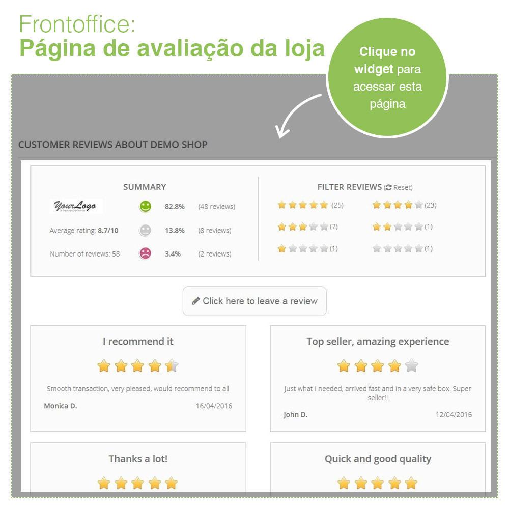 module - Opiniões de clientes - Opiniões de loja + produto  Opiniões + Snippets - 8