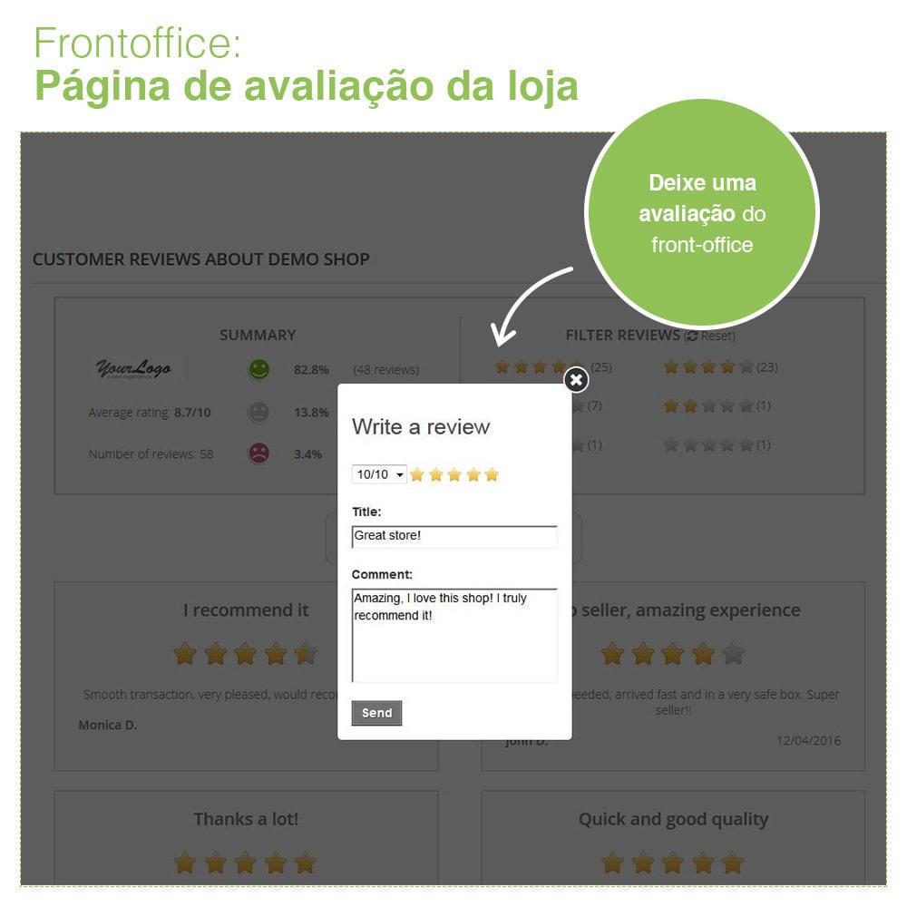 module - Opiniões de clientes - Opiniões de loja + produto  Opiniões + Snippets - 9