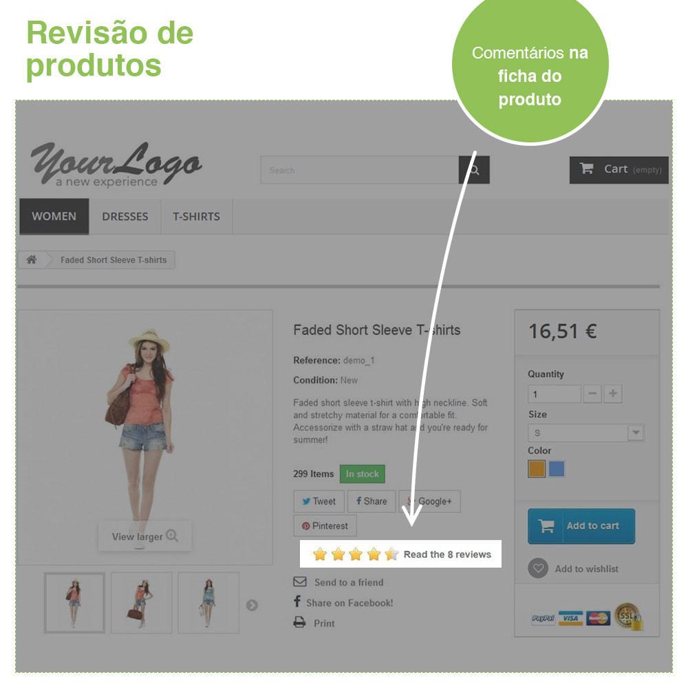 module - Opiniões de clientes - Opiniões de loja + produto  Opiniões + Snippets - 18
