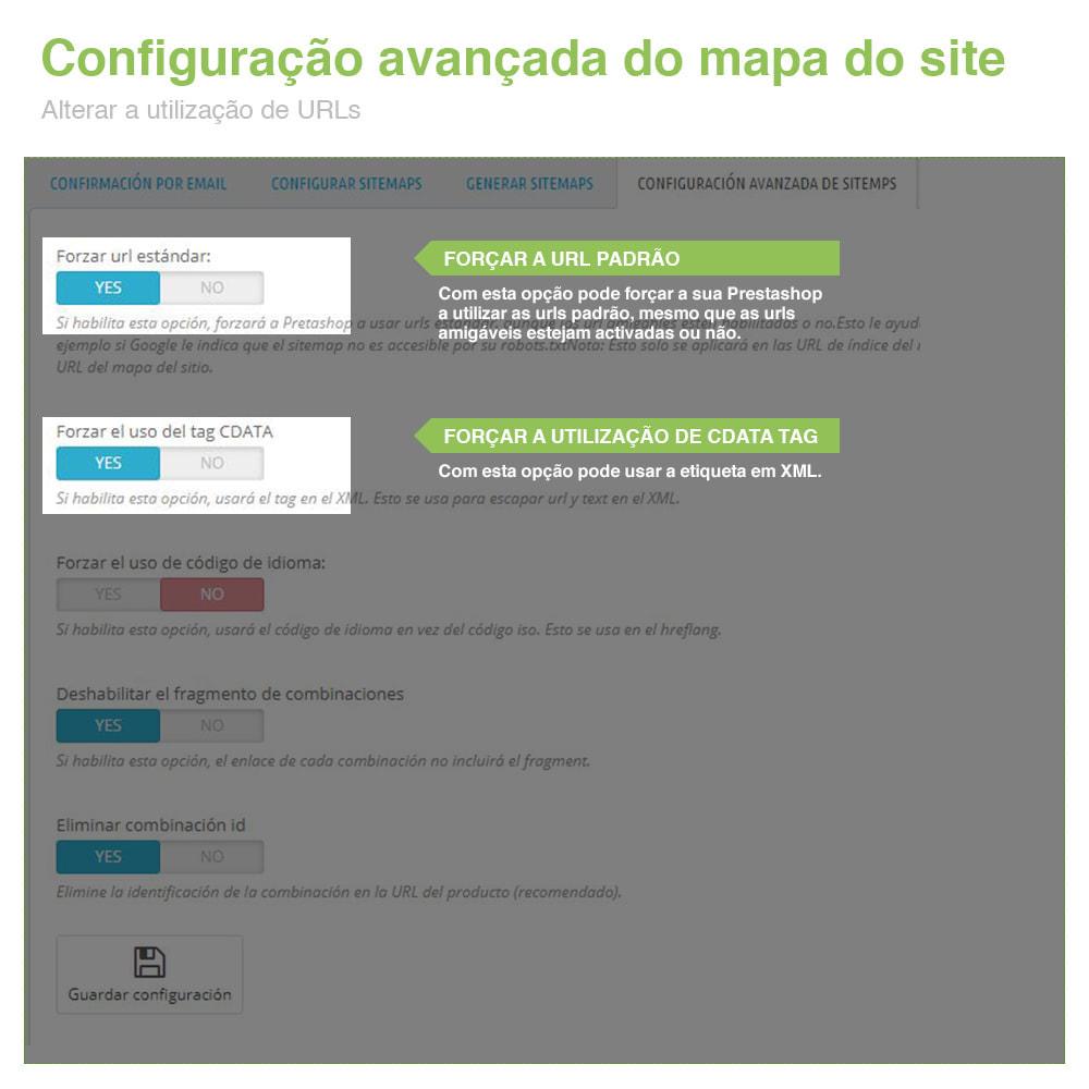 module - SEO (Referenciamento natural) - Sitemaps Pro Multi-Idiomas e Multi-Lojas – SEO - 10