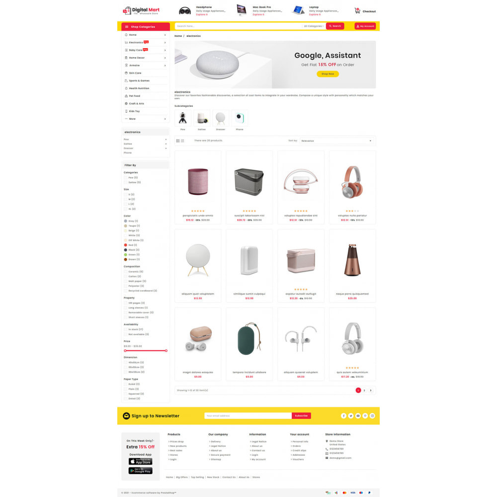 theme - Electronique & High Tech - Digital Mart - Multi-purpose Mega Store - 13