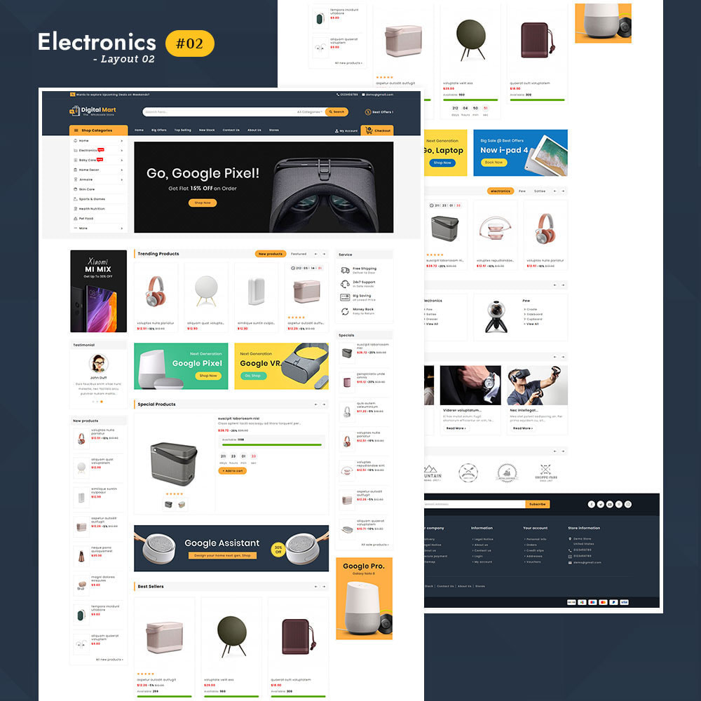theme - Электроника и компьютеры - Digital Mart - Multi-purpose Mega Store - 2