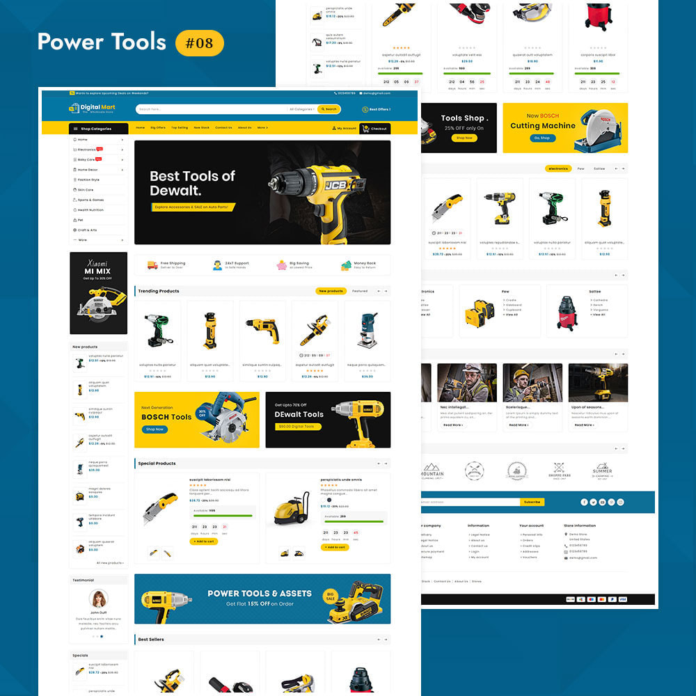 theme - Электроника и компьютеры - Digital Mart - Multi-purpose Mega Store - 9