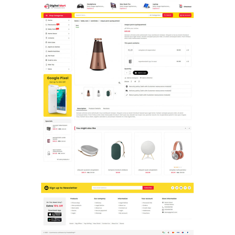 theme - Электроника и компьютеры - Digital Mart - Multi-purpose Mega Store - 15