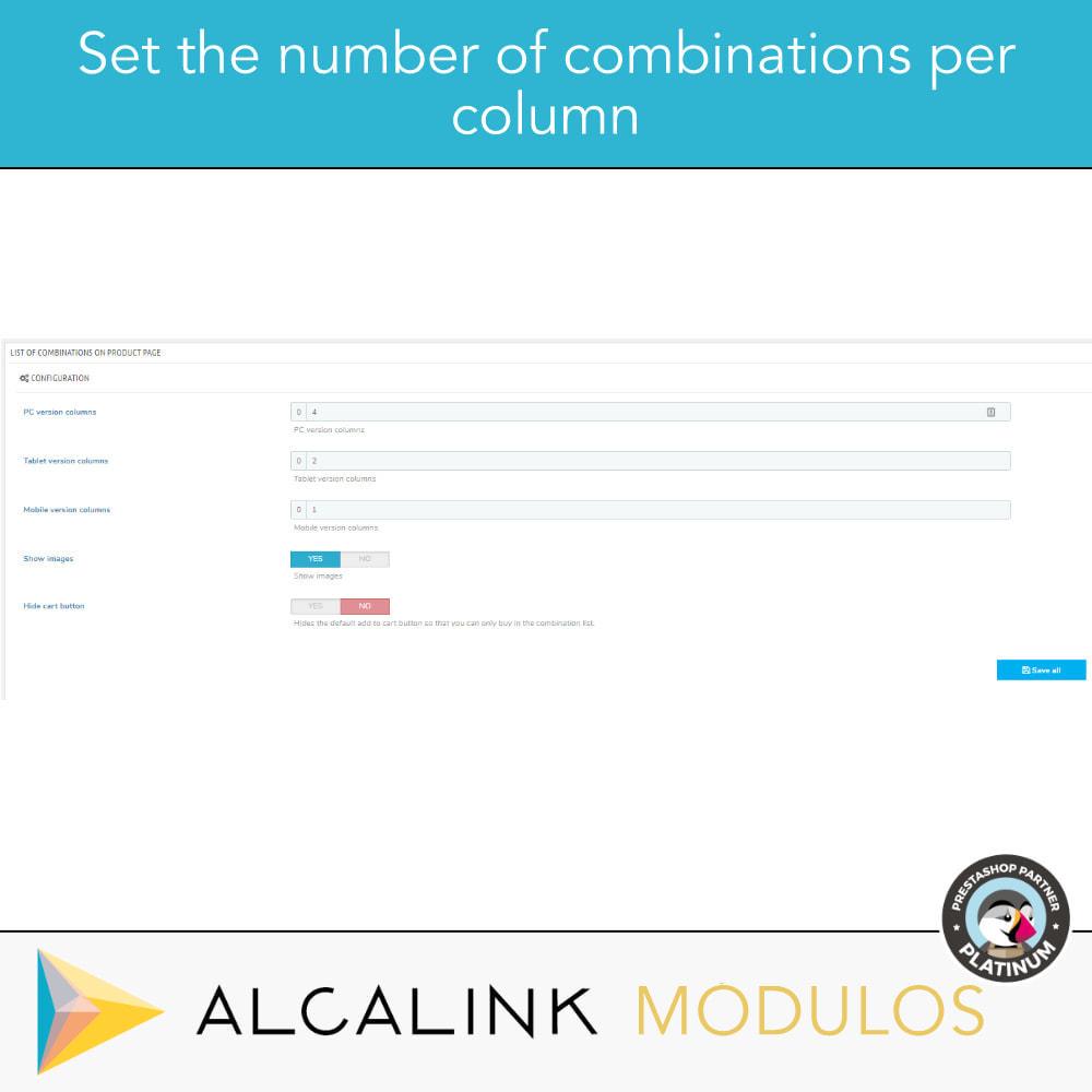 module - Deklinacje & Personalizacja produktów - List of combinations in product sheet - 4