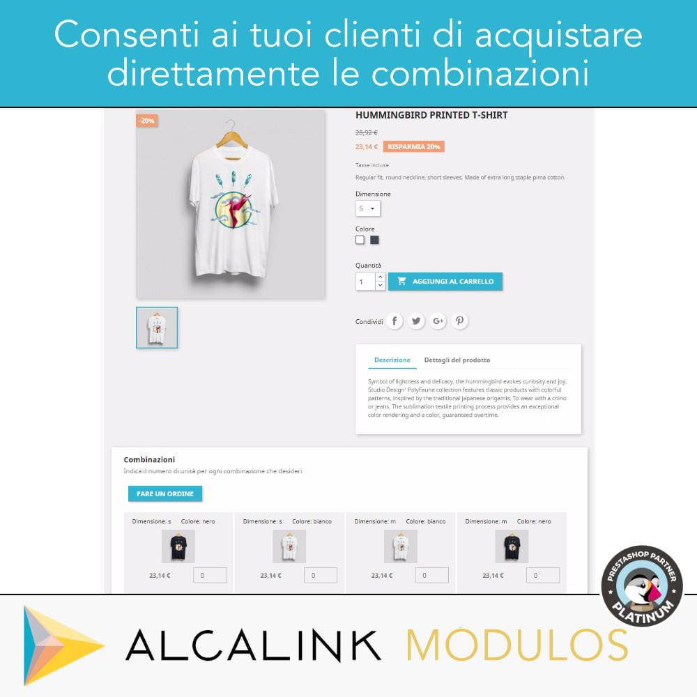 module - Combinazioni & Personalizzazione Prodotti - Elenco delle combinazioni nella scheda prodotto - 2