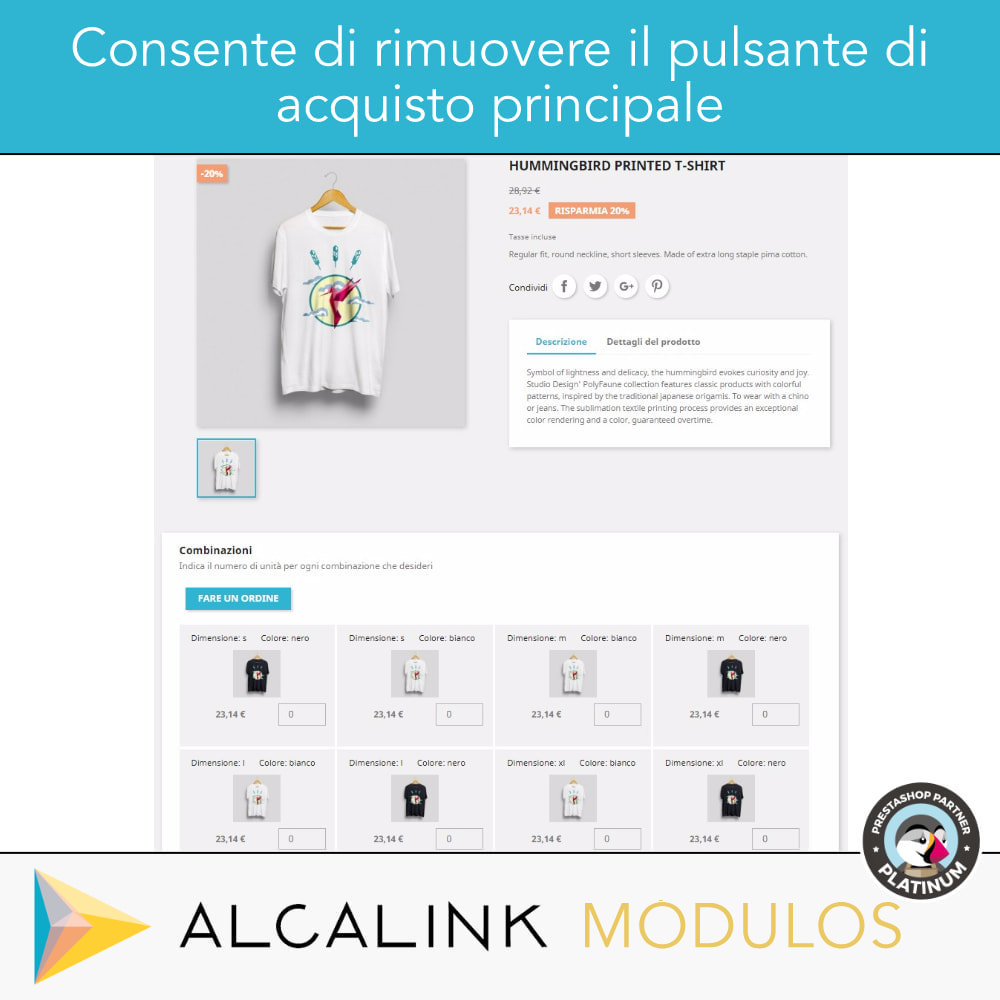 module - Combinazioni & Personalizzazione Prodotti - Elenco delle combinazioni nella scheda prodotto - 3
