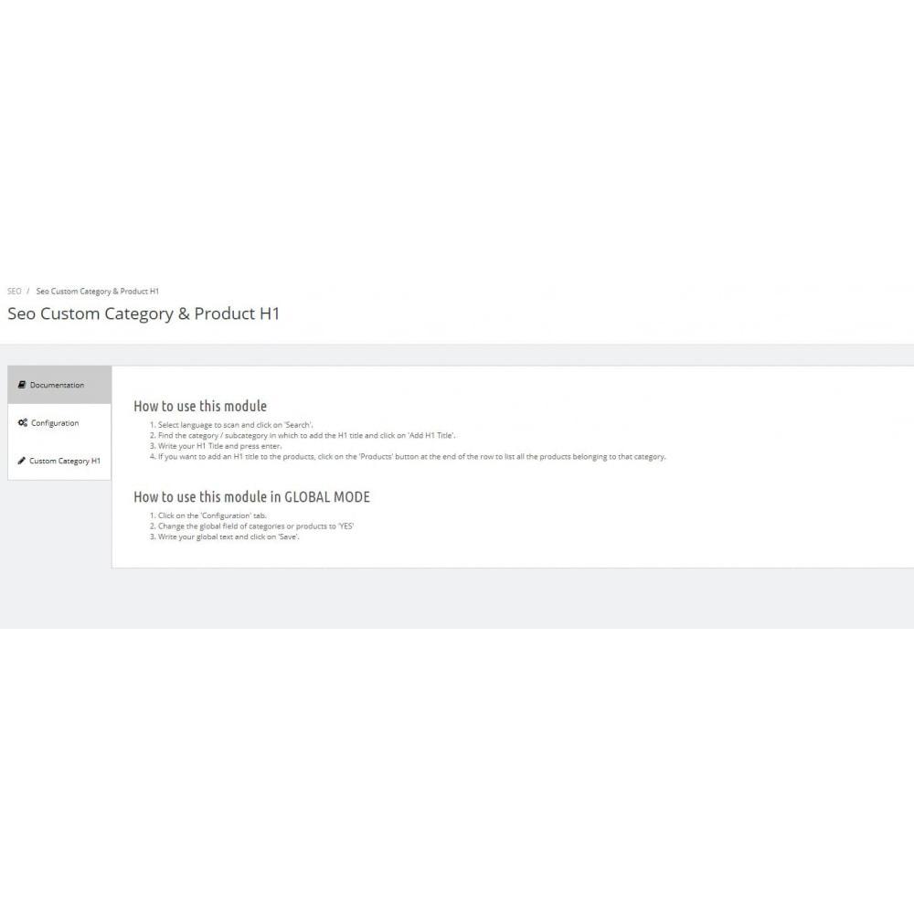 module - SEO (Indicizzazione naturale) - SEO H1 categorie e prodotti - 1