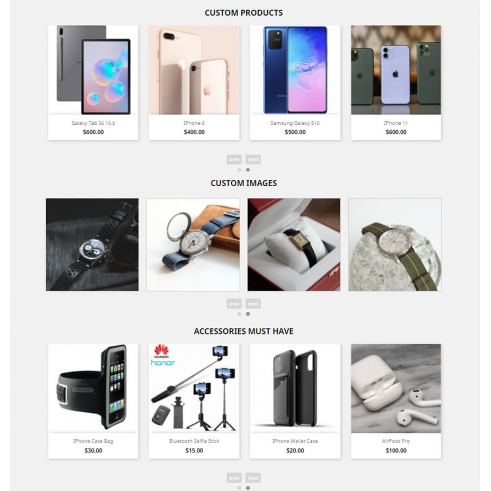 module - Sliders & Galeries - Carousels Pack - Instagram, Products, Brands, Supplier - 5