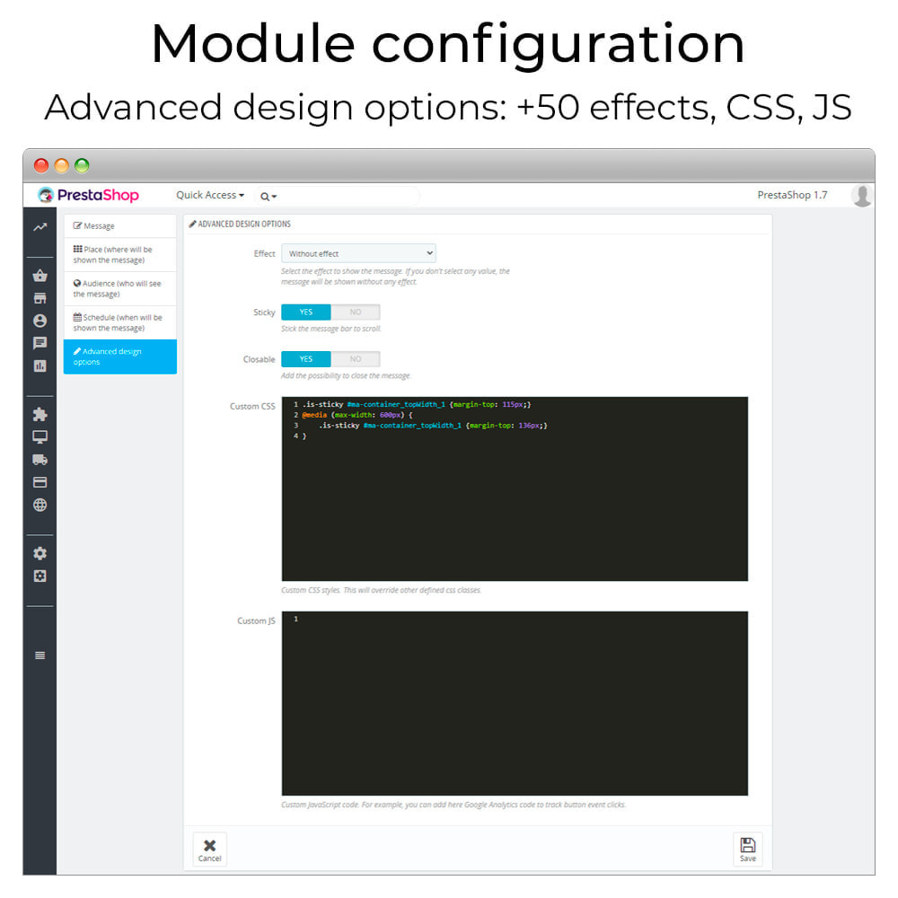 module - Page Customization - Messages Anywhere - 7