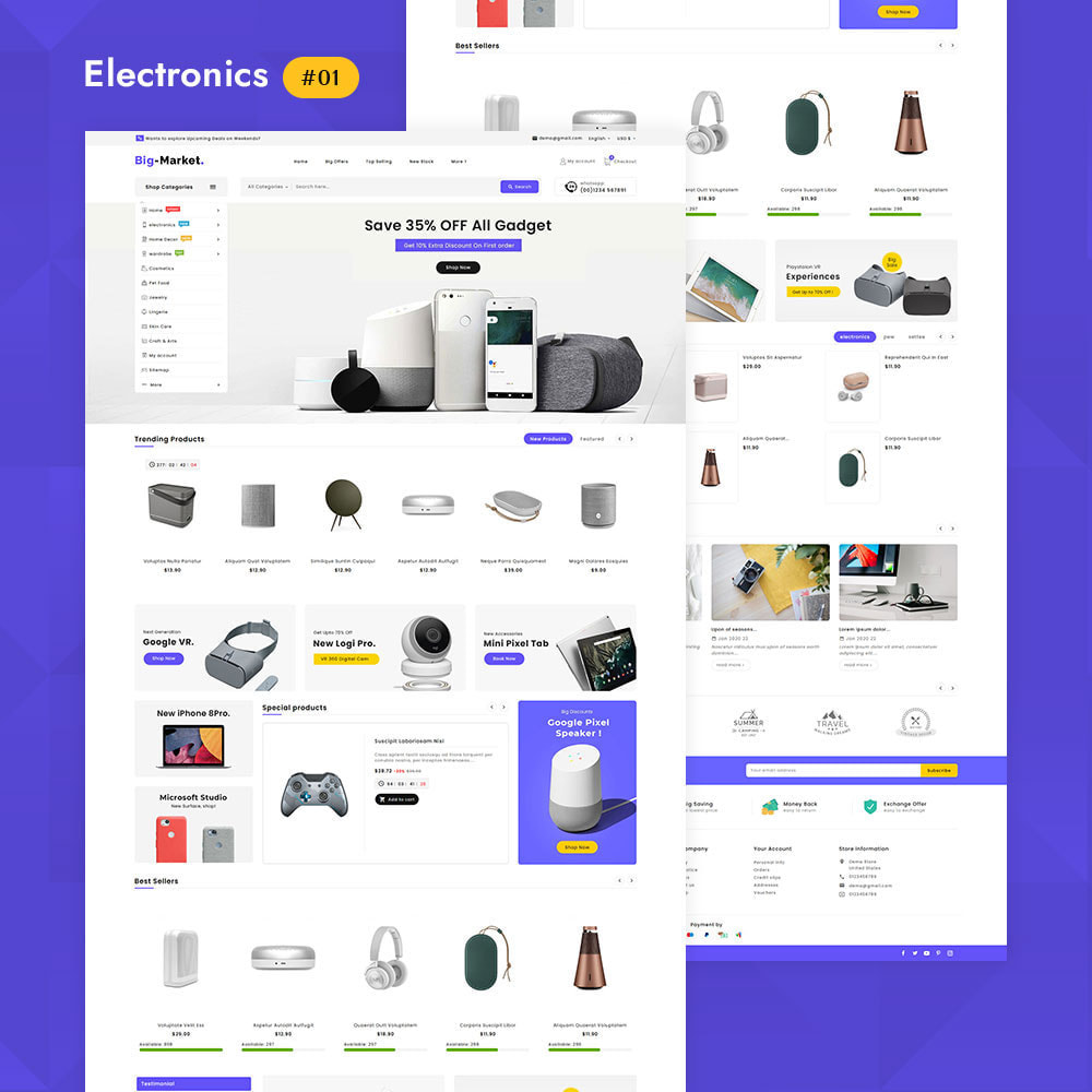 theme - Electronique & High Tech - Big Market - Multi-purpose Mega Store - 3