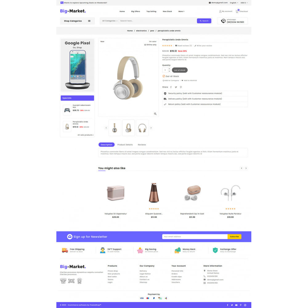 theme - Elettronica & High Tech - Big Market - Multi-purpose Mega Store - 16