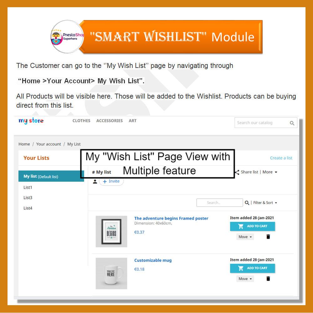 module - Wishlist & Gift Card - Smart Wishlist - 5