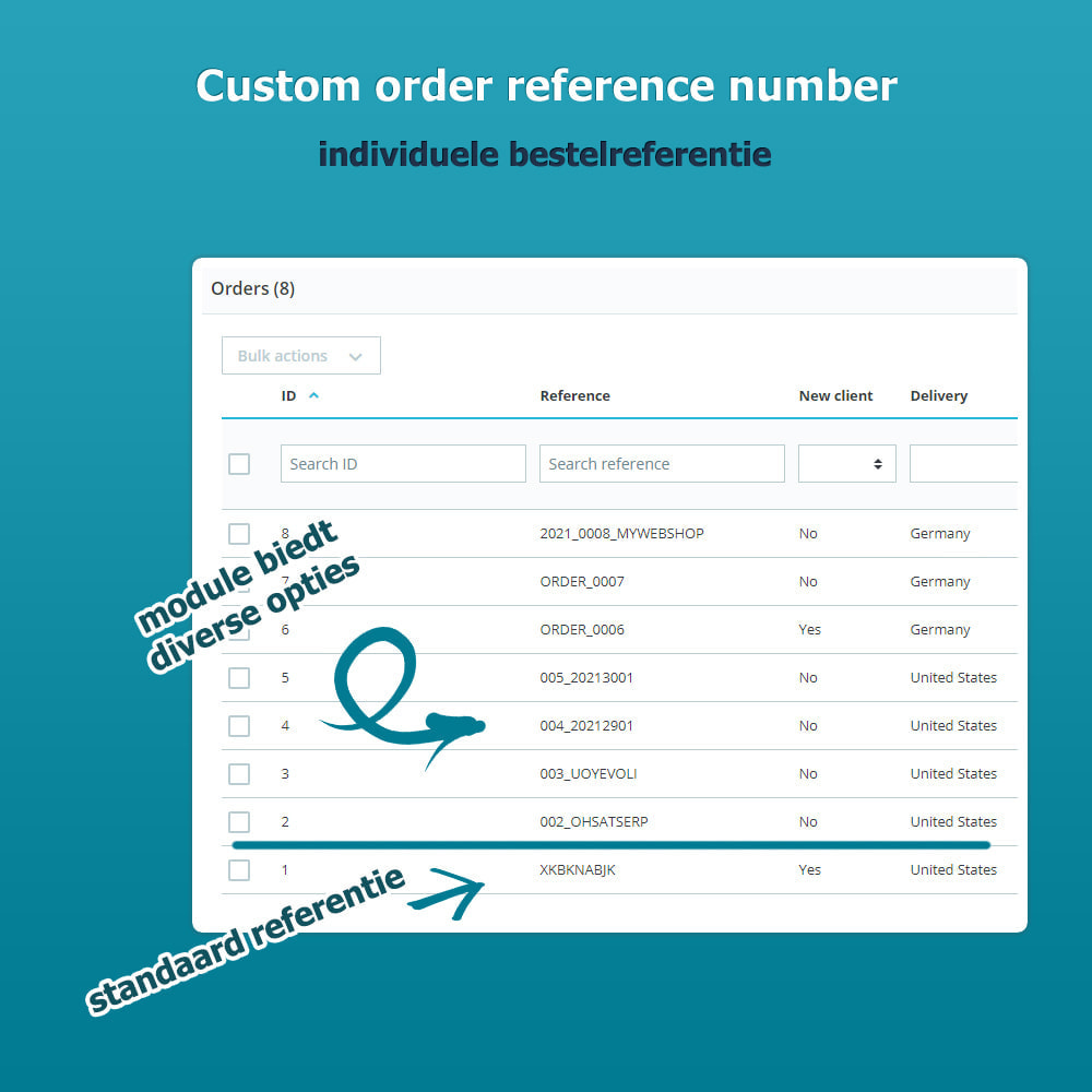module - Orderbeheer - Custom Order Reference - individuele bestelreferentie - 1