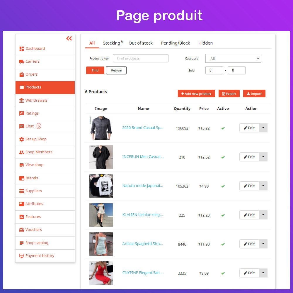 module - Création de Marketplace - Marché du commerce électronique multi-vendeurs - 14