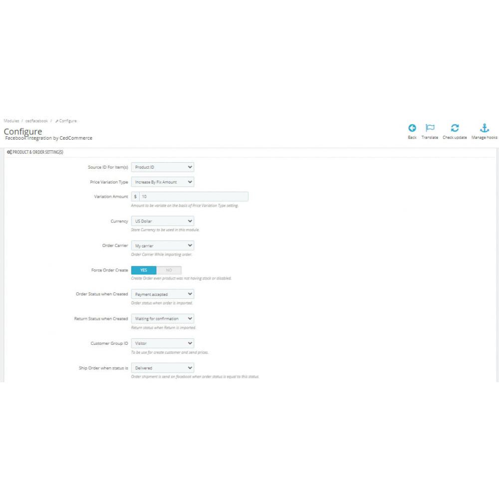 module - Marketplaces - Facebook Integration - 3