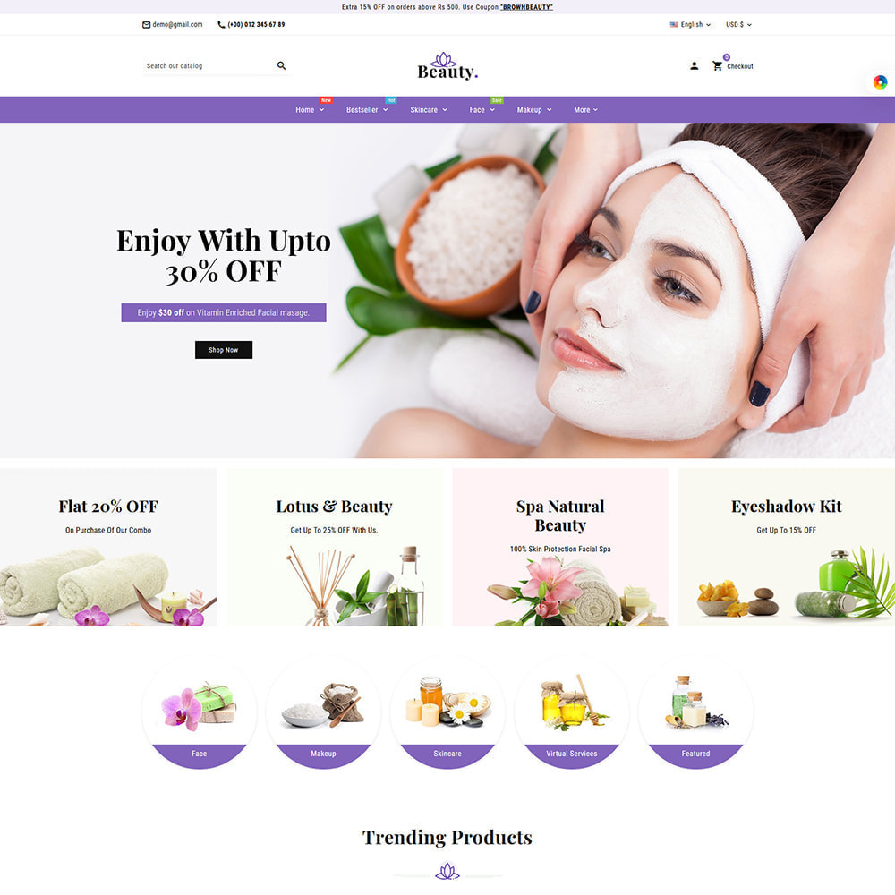 theme - Health & Beauty - Brownbeauty - Herbal Care - 3