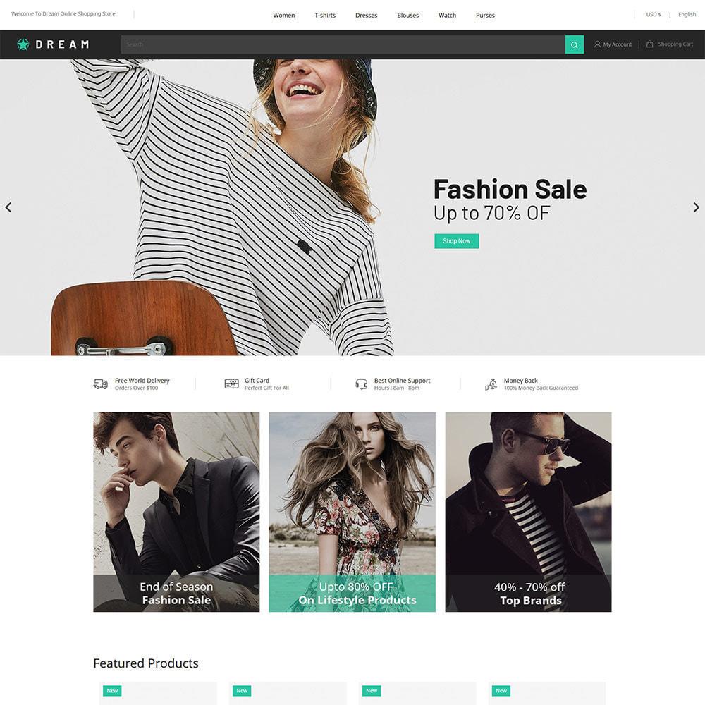 theme - Fashion & Shoes - Dream Fashion - Designer Cloth Black Store - 2