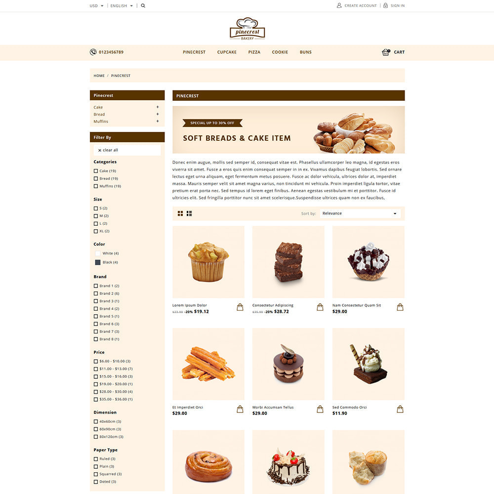 theme - Food & Restaurant - Pinecrest Cakes & Cookies Store - 2