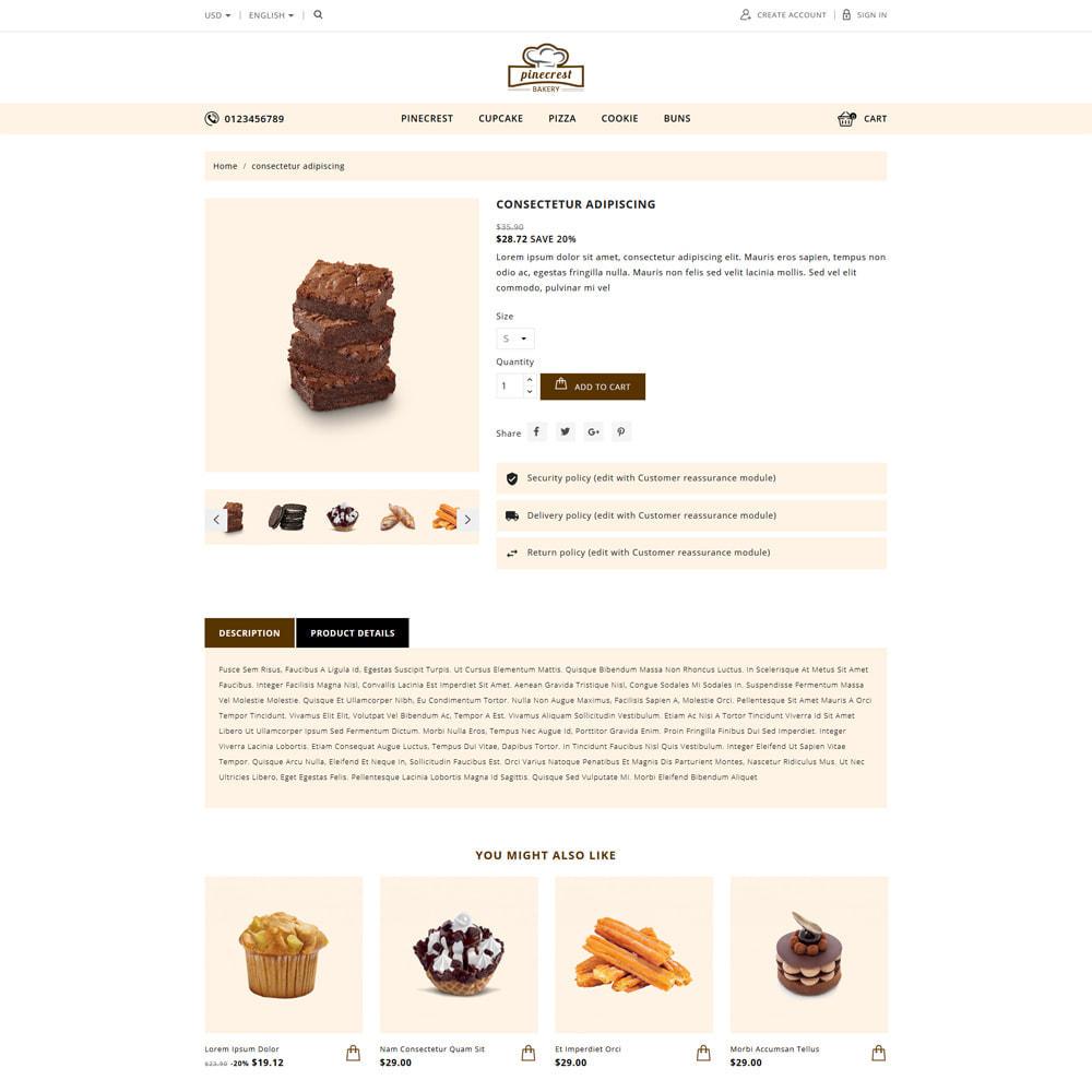 theme - Food & Restaurant - Pinecrest Cakes & Cookies Store - 3
