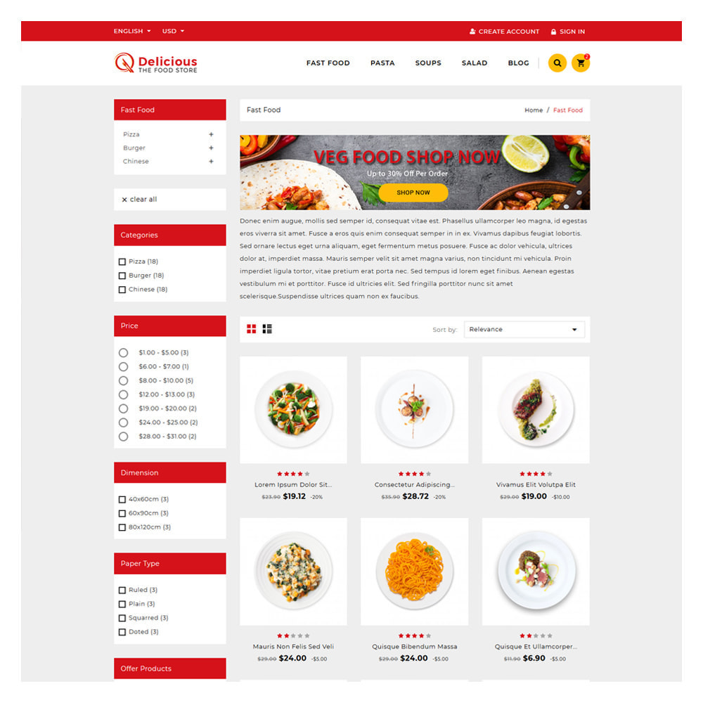 theme - Food & Restaurant - Delicious Food & Resturant Shop - 2