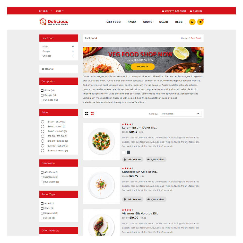 theme - Food & Restaurant - Delicious Food & Resturant Shop - 3