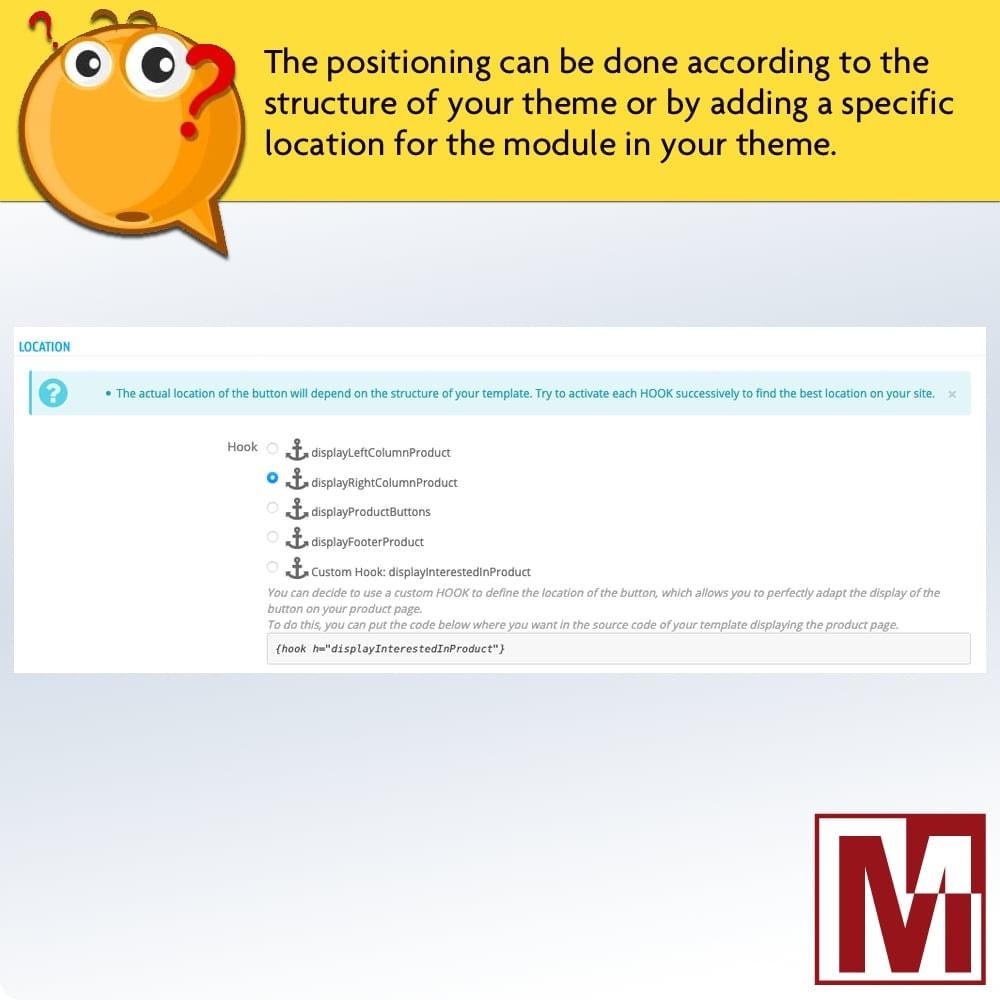 module - Formulário de contato & Pesquisas - Dynamic contact form on product page - 4